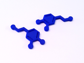 Dopamine Molecule Earrings in Blue Strong & Flexible Polished