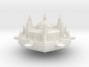 Navy Scihex Fortress in White Natural Versatile Plastic