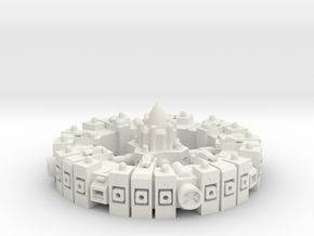 Orbital Station - Turrets in White Natural Versatile Plastic