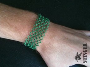 Woven Bracelet Small in Orange Processed Versatile Plastic