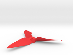 "Drone Propeller - 5"" CCW Pusher in Red Processed Versatile Plastic"
