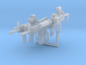 Brickgun Pack1 in Smoothest Fine Detail Plastic