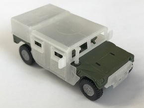 M1165 Armor w/Barn Door Hard Top & Spare Tire in Smooth Fine Detail Plastic