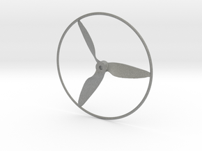 """Drone Propeller - 5"""" CCW Pusher With Rim in Gray PA12"""