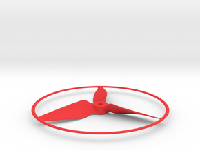 "Drone Propeller - 5"" CW Puller With Rim in Red Processed Versatile Plastic"