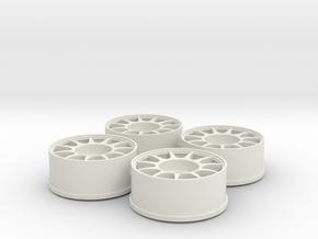 4xMiniZ F-Offset+0,5 - 8,5mm in White Natural Versatile Plastic