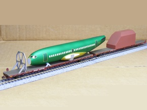 Boeing 737 Parts for Flatcar - Nscale in Smooth Fine Detail Plastic