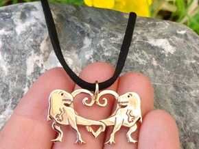 TRex pendant tyrannosaurus necklace in Polished Bronze