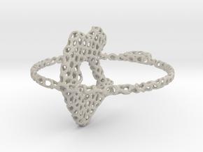 voronoi yoga pendant/earring in Natural Sandstone