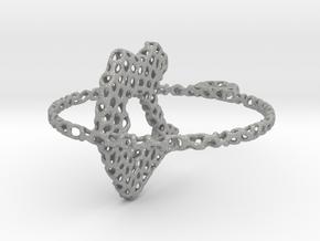 voronoi yoga pendant/earring in Aluminum