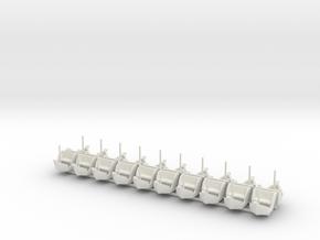 Gondeln - Koggenfahrt 2.0 für 1:87 (H0) in White Natural Versatile Plastic