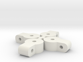 Basher Rocksta Upper Link Mounts in White Natural Versatile Plastic