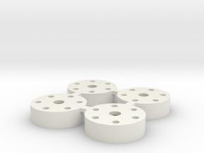 1.25 in WPL Beadlock Wheel Adapter  in White Natural Versatile Plastic