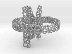 voronoi yoga earring pendant 3mm in Aluminum