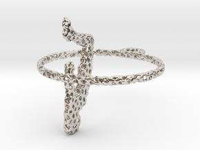 voronoi yoga earring pendant in Platinum