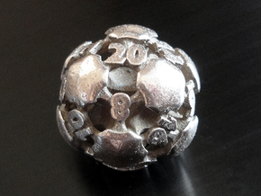 Chord d20 in Polished Bronzed-Silver Steel