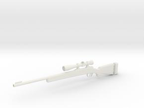 1:12 Carbine M24 in White Natural Versatile Plastic: 1:12