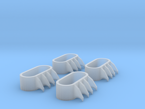 1:6 scale Claws in Smooth Fine Detail Plastic