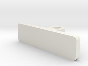 Bufferbeam Hole Insert for Bachmann Bill & Ben in White Natural Versatile Plastic