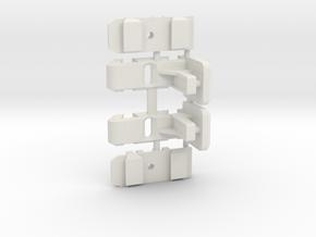 Jomurema - Supports latéraux réglables in White Natural Versatile Plastic