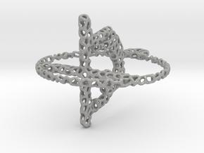 voronoi yoga earring pendant in Aluminum