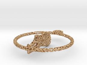 voronoi yoga earring pendant in Natural Bronze