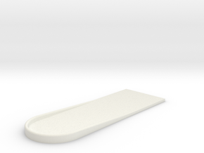 UH-1 Foot Rest 1/6 in White Natural Versatile Plastic