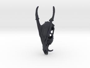 Muntjac Skull Pendant in Black Professional Plastic