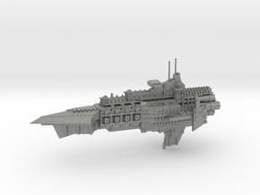 Capital Cruiser Ship - Concept A  in Gray PA12
