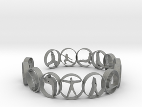 Yoga bangle 54 mm  in Gray Professional Plastic