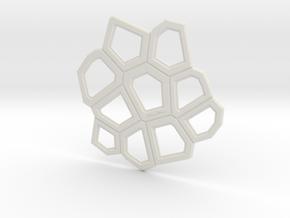 Organika Coaster (xl) in White Natural Versatile Plastic