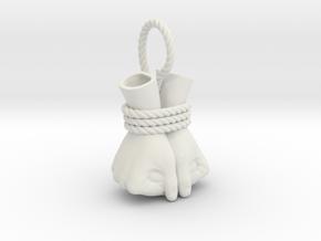 Bound Hands in White Natural Versatile Plastic