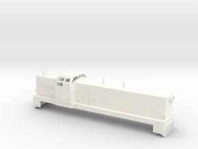 Swedish SJ diesel locomotive type T4 / T41- H0-sca in White Processed Versatile Plastic