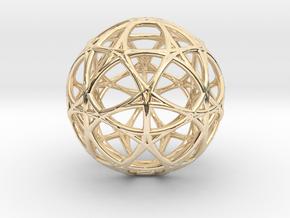 Alpha 13D  Matter Light in 14k Gold Plated Brass