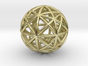 Alpha 13D  Core Labirinth in 18k Gold Plated Brass