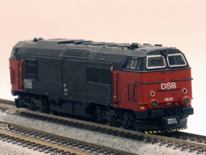 DSB MZ IV in 1:160 scale in Smoothest Fine Detail Plastic