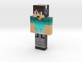 Creeper1144 | Minecraft toy in Natural Full Color Sandstone