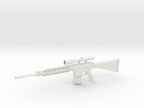 1:12 M110 Sniper Rifle in White Natural Versatile Plastic: 1:12
