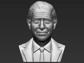 Prince Charles bust in White Natural Versatile Plastic