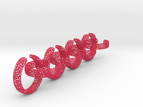 voronoi ring chain 25 mm in Pink Processed Versatile Plastic