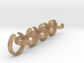 voronoi ring chain 25 mm in Natural Bronze (Interlocking Parts)