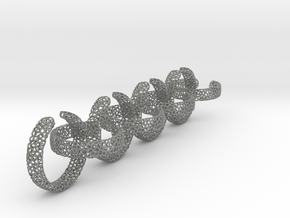 voronoi ring chain 25 mm in Gray Professional Plastic