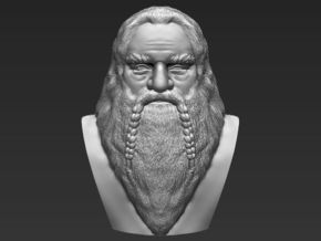 Gimli bust the Lord of the Rings in White Natural Versatile Plastic