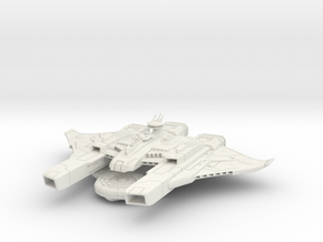 Kirla Warden Gunship in White Natural Versatile Plastic
