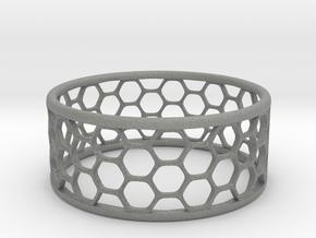 Hexagonal Ring in Gray PA12: 1.75 / -