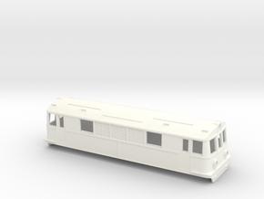 Swedish BJ/GDJ/SJ electric locomotive type O/Bk -  in White Processed Versatile Plastic