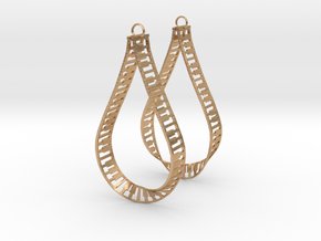 teardrop piano frame earrings in Natural Bronze