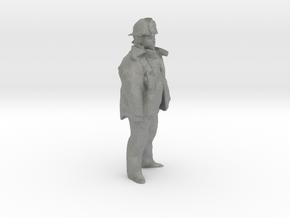 S Scale Fireman in Gray PA12