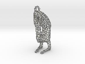 yoga jewelry - pendant earring - Vrischikasana in Natural Silver