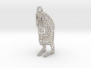 yoga jewelry - pendant earring - Vrischikasana in Platinum
